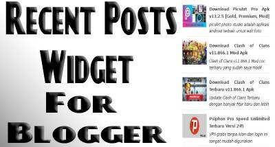 How to Add Recent Posts Widget to Blogger